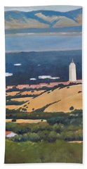 Stanford From Hills Hand Towel by Gary Coleman