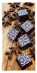 Star Anise Chocolate Hand Towel by Sabine Edrissi
