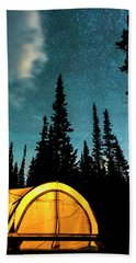 Hand Towel featuring the photograph Star Camping by James BO Insogna