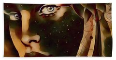 Star Child Hand Towel by Kathy Kelly