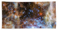 Bath Towel featuring the photograph Star Cluster R136 by Marco Oliveira