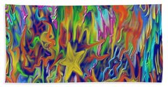 Hand Towel featuring the painting Star E Nite by Kevin Caudill