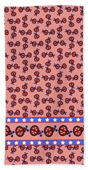 Hand Towel featuring the digital art Star-spangled Lady Bugs by Methune Hively