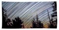Star Trails From Mt. Graham Hand Towel