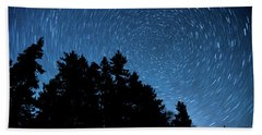 Star Trails In Acadia Bath Towel