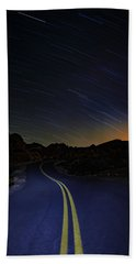 Star Trails Over Valley Of Fire Bath Towel