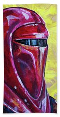 Bath Towel featuring the painting Star Wars Helmet Series - Imperial Guard by Aaron Spong