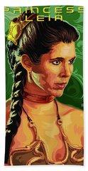 Star Wars Princess Leia Pop Art Portrait Bath Towel
