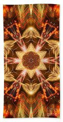 Starbright Mandala Hand Towel by Wernher Krutein