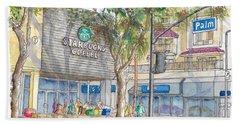 Starbucks Coffee In San Fernando Rd And Palms, Burbank, California Bath Towel