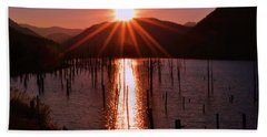 Starburst Sunrise - Earthquake Lake 005 Hand Towel