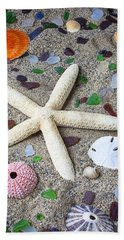Starfish Beach Still Life Hand Towel