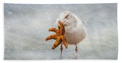 Starfish For Dinner Hand Towel
