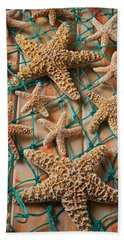 Starfish In Net Hand Towel