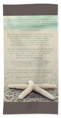 Starfish Make A Difference Vintage Set 1 Hand Towel by Terry DeLuco