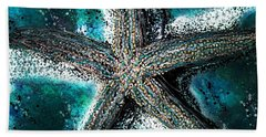 Starfish Ocean Deep Hand Towel by Barbara Chichester