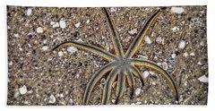 Starfish On The Beach Hand Towel