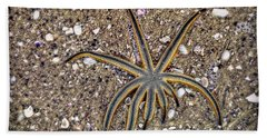 Starfish On The Beach Hand Towel