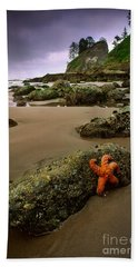 Starfish On The Rocks Bath Towel