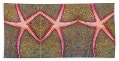 Starfish Pattern Bar Bath Towel