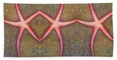 Starfish Pattern Bar Hand Towel