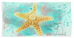 Hand Towel featuring the photograph Starfish Wishes by Darren Fisher