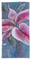 Bath Towel featuring the painting Stargazer I by Shadia Derbyshire