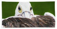 Staring Pelican Bath Towel