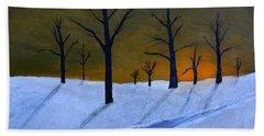 Stark Winter Sunset Hand Towel