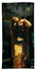 Midnight Starlight Hand Towel by Carrie Joy Byrnes