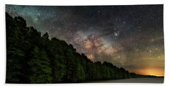 Bath Towel featuring the photograph Starlight Swimming by Russell Pugh