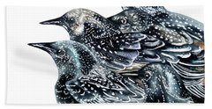 Starlings Hand Towel by Marie Burke