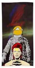 Starman Bowie Bath Towel by Jason Tricktop Matthews