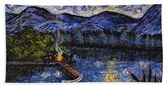 Starry Lake Hand Towel