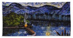 Starry Lake Bath Towel