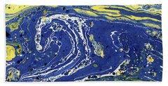 Starry Night Abstract Bath Towel