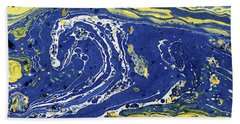 Starry Night Abstract Bath Towel by Menega Sabidussi