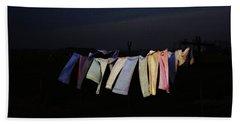 Starry Night In Van Goghs Homeland Bath Towel