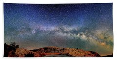 Starry Night Over Mesa Arch Bath Towel