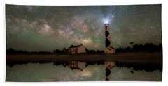 Bath Towel featuring the photograph Starry Reflections by Russell Pugh
