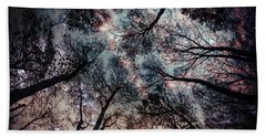 Starry Sky In The Forest Bath Towel