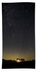 Starry Sky Over Virginia Farm Bath Towel