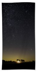 Starry Sky Over Virginia Farm Hand Towel