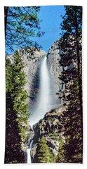 Starry Yosemite Falls Bath Towel