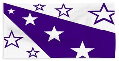 'stars 21' Or 'purple Stars' Hand Towel by Linda Velasquez