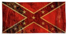 Stars And Bars Confederate Flag Bath Towel by Randy Steele