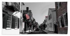 Stars And Stripes- Church St Charleston Sc Hand Towel