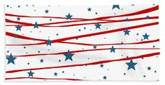 Stars And Stripes Bath Towel
