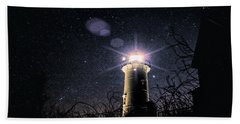 Stars Over Nobska Lighthouse Hand Towel