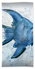 Startled Fish Hand Towel by Walt Foegelle